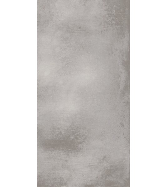 Metal Max 24 x 48 Porcelain Field Tile in Medium Gray by Madrid Ceramics