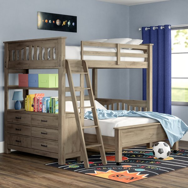 Gisselle L-Shaped Bunk Beds with Drawers and Shelves by Viv + Rae