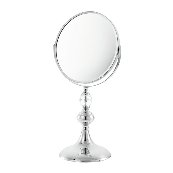 Crystal Stem 5x Swivel Magnification Mirror by Danielle Creations