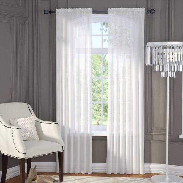 Brushgrove Solid Sheer Rod Pocket Window Curtain Panels (Set of 2) by Willa Arlo Interiors