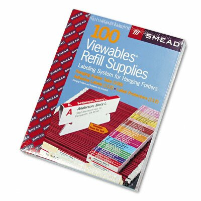 Viewables Pack Refill Labeling System, 100/Box by Smead Manufacturing Company