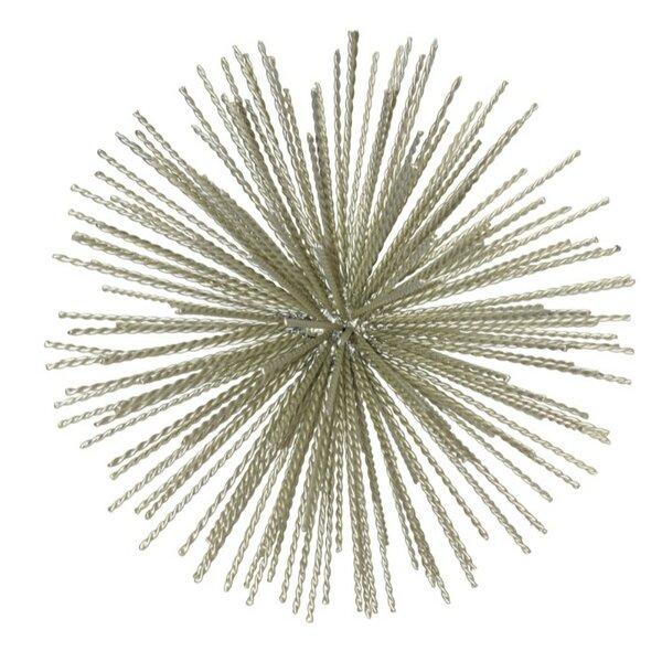 Nathen Ornamental Metal Sea Urchin on Stand Sculpture by Orren Ellis