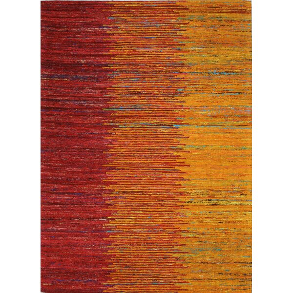 Broughshane Hand Woven Sunset Area Rug by Ivy Bronx