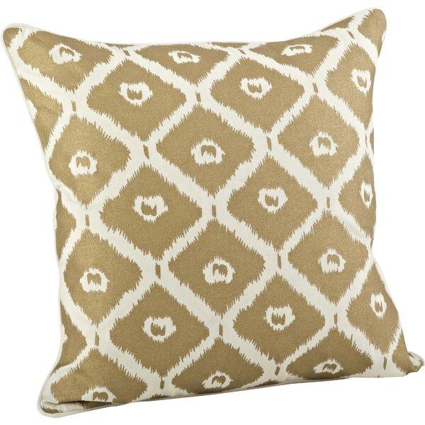 Olympia Printed Ikat Cotton Throw Pillow by Saro
