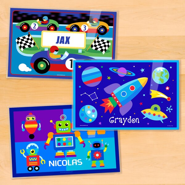 Boys 3 Piece Personalized Placemat Set by Olive Kids