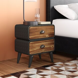 Krish Rounded 2 Drawer Nightstand By Williston Forge