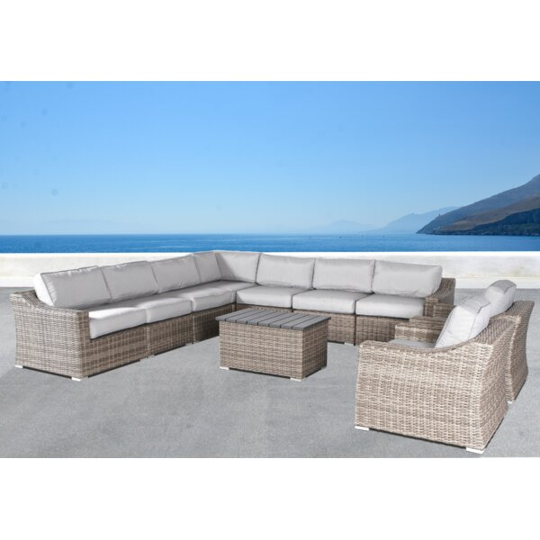Dayse 10 Piece Sectional Seating Group with Cushions by Sol 72 Outdoor