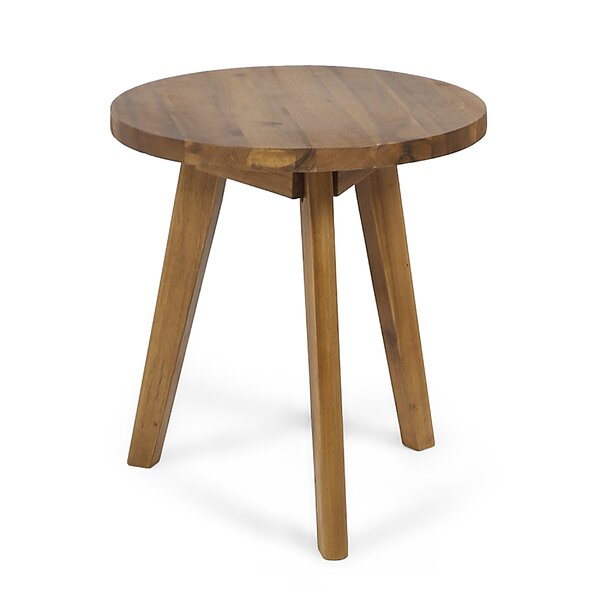 Humphries Outdoor Wooden Side Table by Wrought Studio