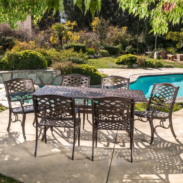 Ravenna 7 Piece Dining Set By Fleur De Lis Living