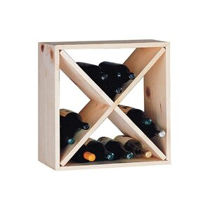 Country Pine Cube 24 Bottle Floor Wine Rack by Wine Cellar Innovations