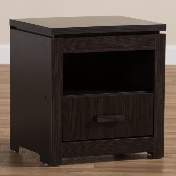 Higgston 1 Drawer Nightstand by Ebern Designs