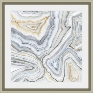 'Agate Abstract II' Framed Painting Print by Wade Logan