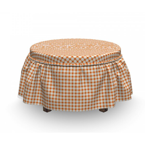 Plaid Motif Ottoman Slipcover (Set Of 2) By East Urban Home
