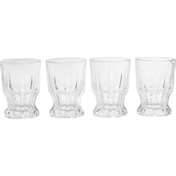 Admiration 7.7 oz. Cut DOF Glass (Set of 4) by Circle Glass