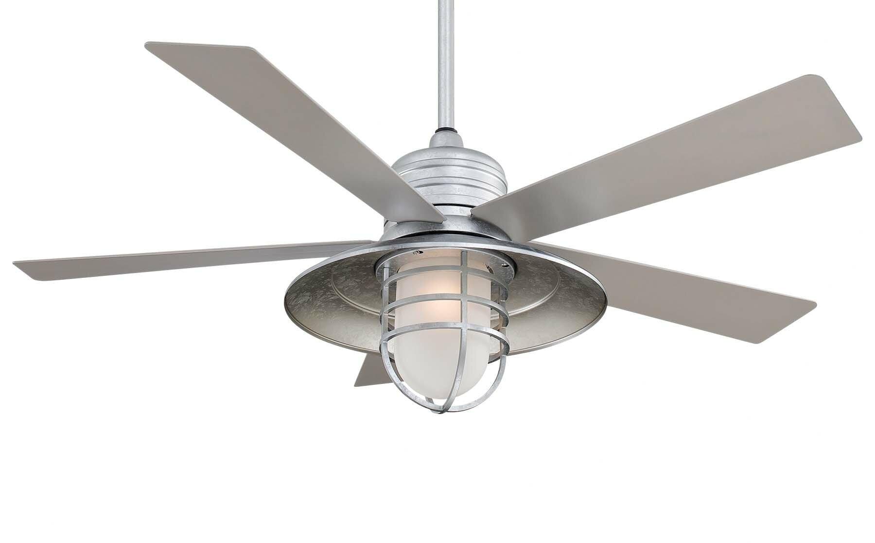 Minka Aire 54 Rainman 5 Blade Outdoor Ceiling Fan Light Kit Included Reviews Wayfair