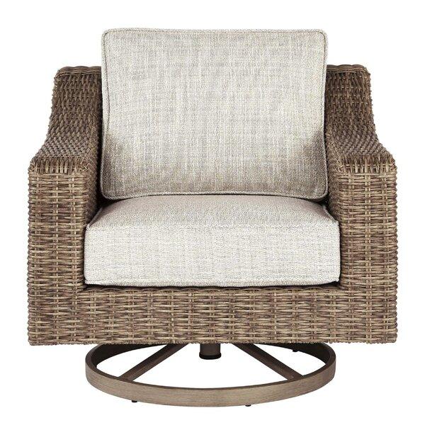 Jahiem Swivel Patio Chair with Cushions by Bayou Breeze Bayou Breeze