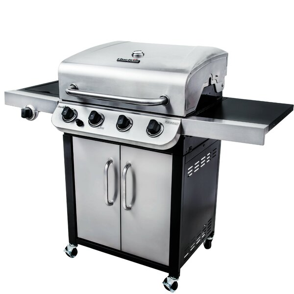 Performance 4 Burner Propane Gas Grill With Cabinet By Char Broil.