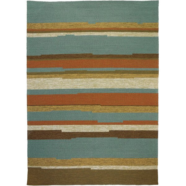 Roswell Stripe Indoor/Outdoor Area Rug by Winston Porter