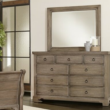 Calila 9 Drawer Dresser with Mirror by Birch Lane™ Heritage