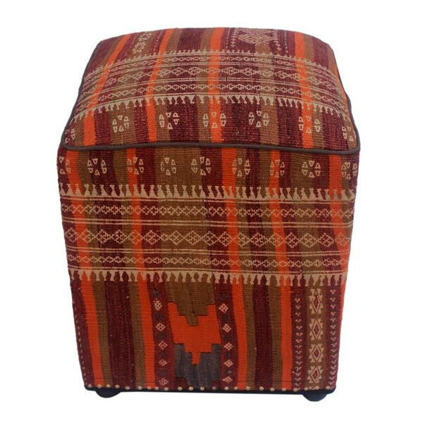 Coby Kilim Cube Ottoman by Millwood Pines