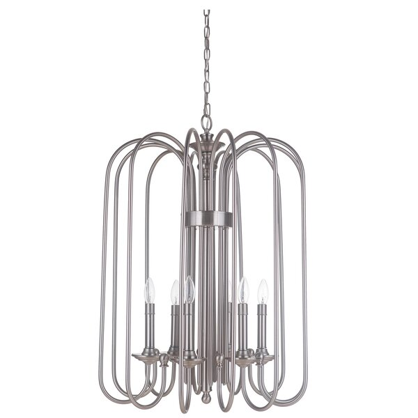 Ellingson 6-Light Candle Style Geometric Chandelier By Charlton Home