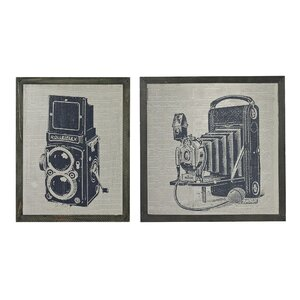 Antique Camera 2 Piece Framed Graphic Art Set by Sterling Industries