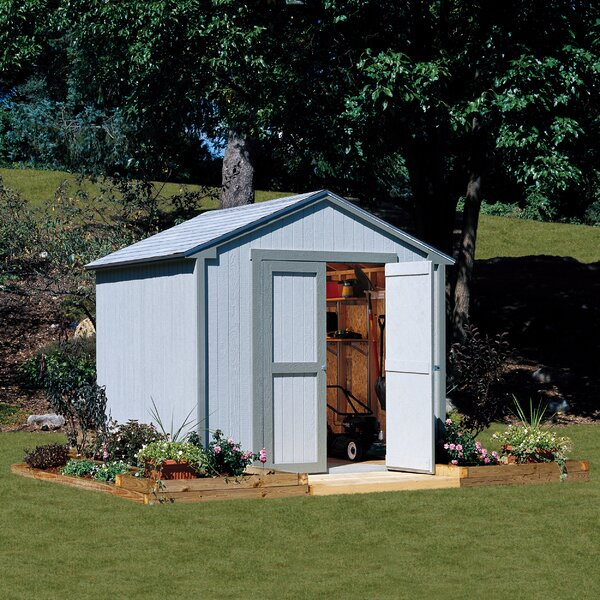 Garden Sheds 7 X 9 handy home marco series 8 ft. w x 7 ft. 9 in. d wooden storage