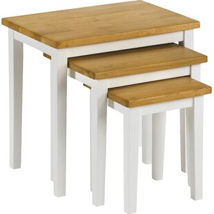 Side tables nest of tables small tables wayfair elvina 3 piece nest of tables watchthetrailerfo