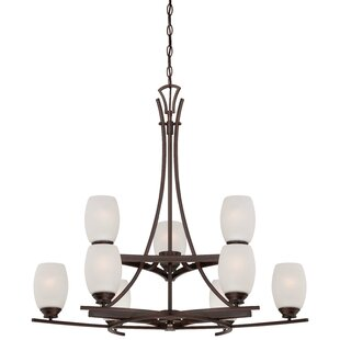 Bargain Giroflier 9-Light Shaded Chandelier By Loon Peak