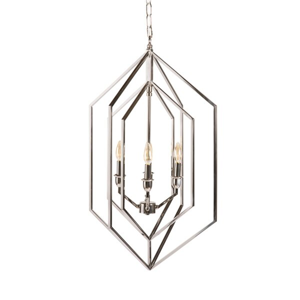Colne 4-Light Candle Style Geometric Chandelier by Mercer41 Mercer41