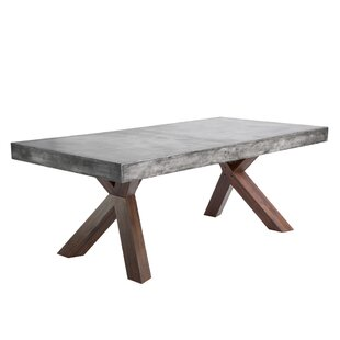 Modern concrete dining kitchen tables allmodern mixt warwick dining table workwithnaturefo