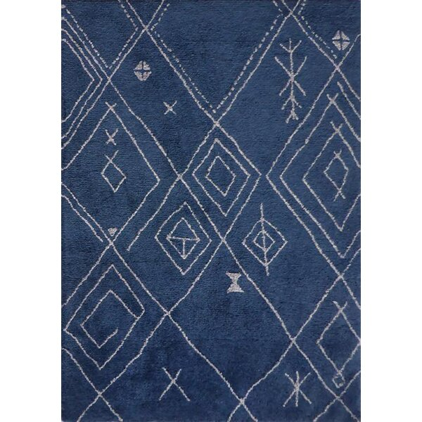 Dowland Hand-Tufted Blue/White Indoor Area Rug by Gracie Oaks