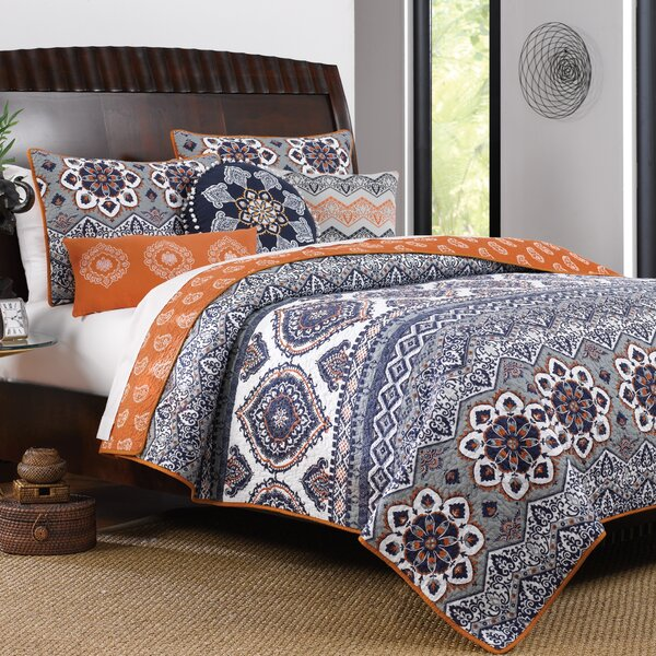 Bovina Reversible Quilt Set by Bungalow Rose