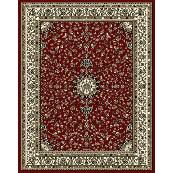 Fales Red/Brown Area Rug by Charlton Home