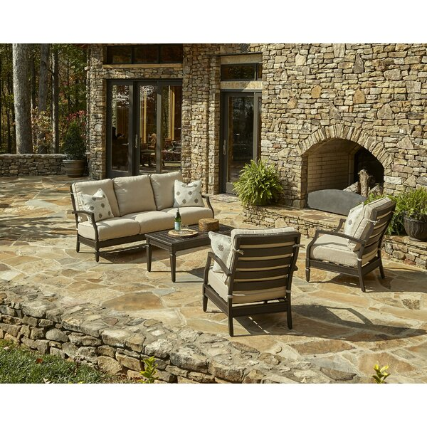 Cerissa 4 Piece Sunbrella Sofa Seating Group with Cushions by Klaussner Furniture