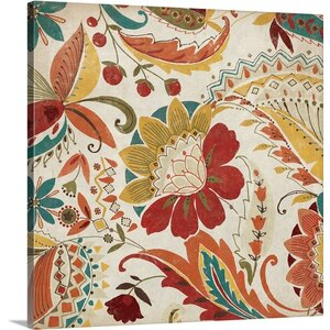 Boho Paisley Spice II Painting Print on Wrap Canvas by Great Big Canvas