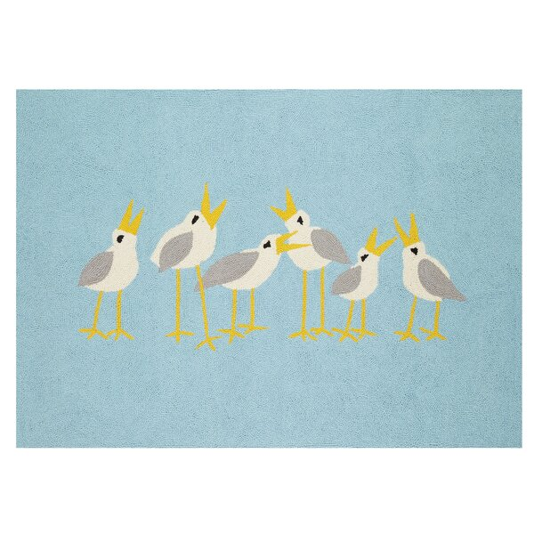 Seagulls Blue Area Rug by Kate Nelligan