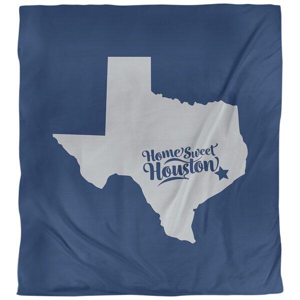 Houston Texas Sports Colors Single Reversible Duvet Cover
