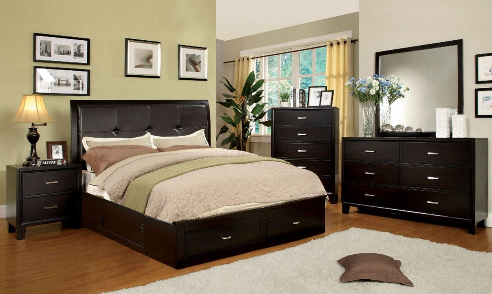 Picture of: Winston Porter Claireborne Queen Platform Solid Wood 4 Piece Bedroom Set Wayfair