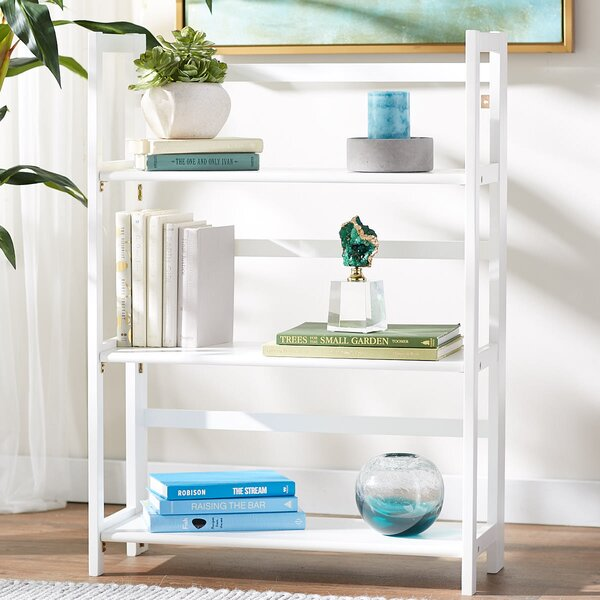 Reanna 3 Shelf Folding Standard Bookcase by Ebern Designs