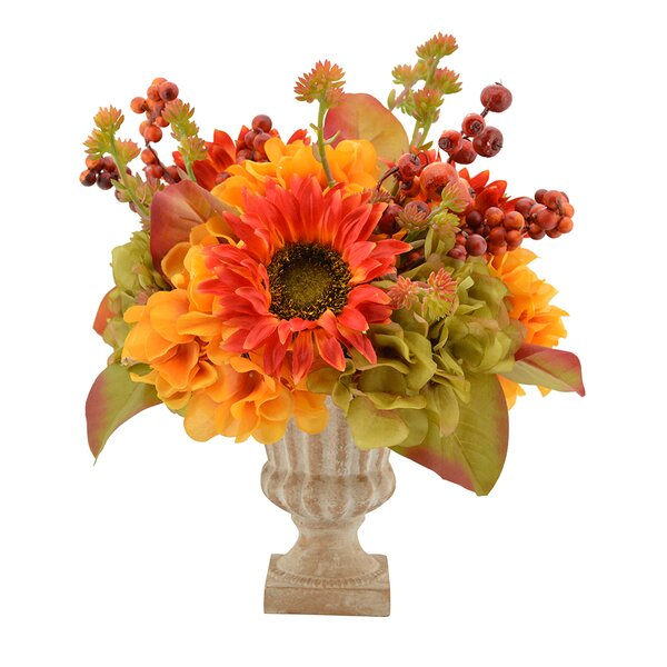 Mixed Centerpiece in Decorative Vase by August Grove