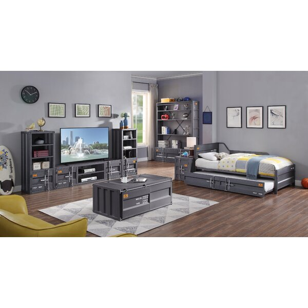 Parke Twin Bed with Trundle by 17 Stories