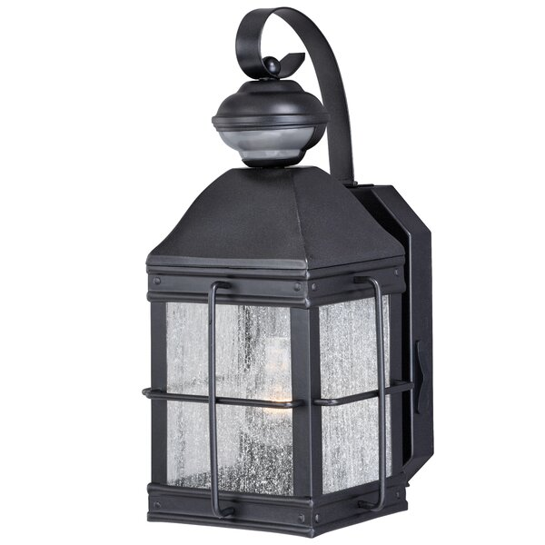 Downie 1-Light Outdoor Dualux® Wall Sconce by Breakwater Bay