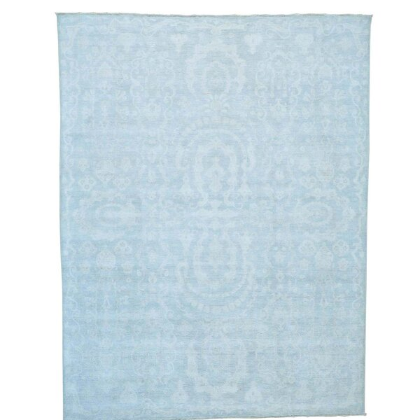 One-of-a-Kind Lausanne Serapi Heriz Hand-Knotted Sky Blue Area Rug by Canora Grey