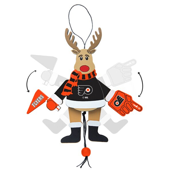 NHL Wooden Cheering Reindeer Ornament by Topperscot