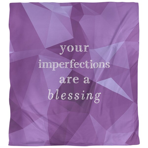 Quotes Faux Gemstone Imperfections Inspirational Single Reversible Duvet Cover