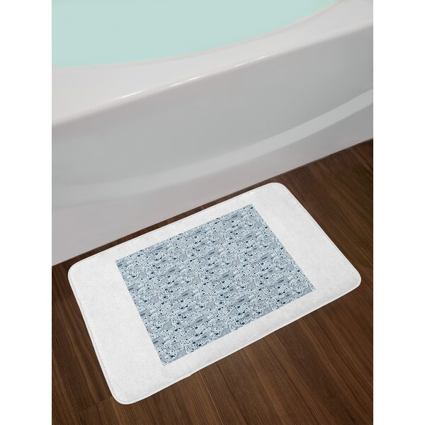 Authentic Blue Bath Rug by East Urban Home