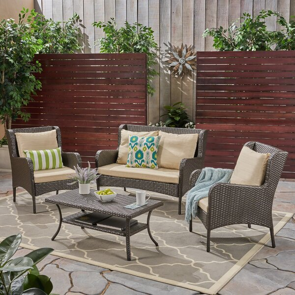 Alberta Deep Seating Group with Cushions by Home Loft Concepts
