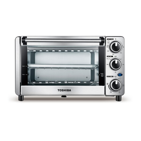 0.4 Cu. Ft. 4 Slice Toaster Oven by Toshiba