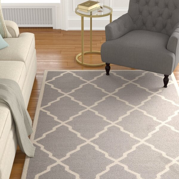 Brambach Hand-Woven Wool Grey/Ivory Area Rug by Darby Home Co